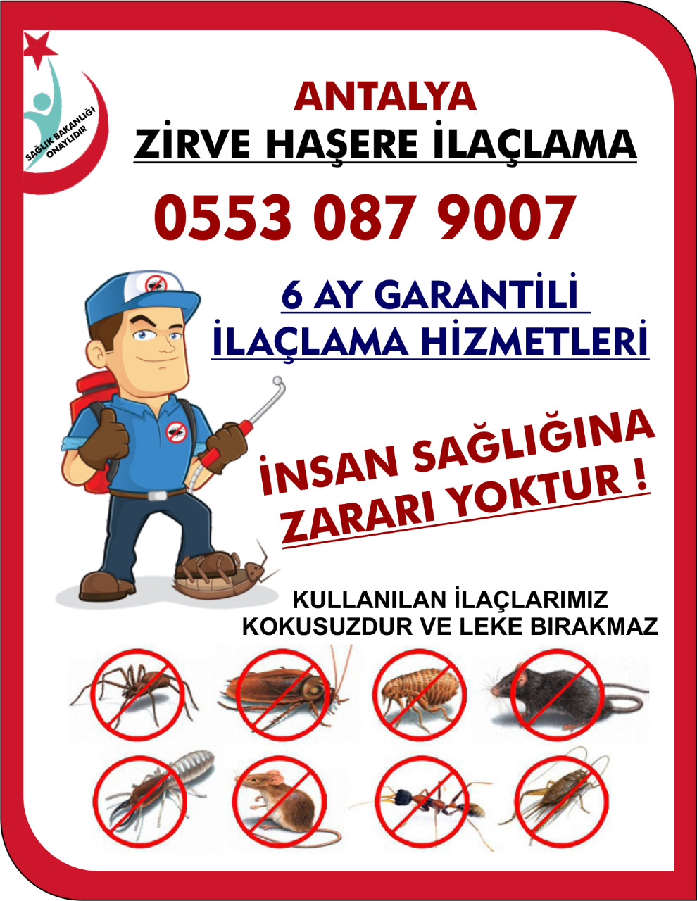 Antalya böcek ilaçlama